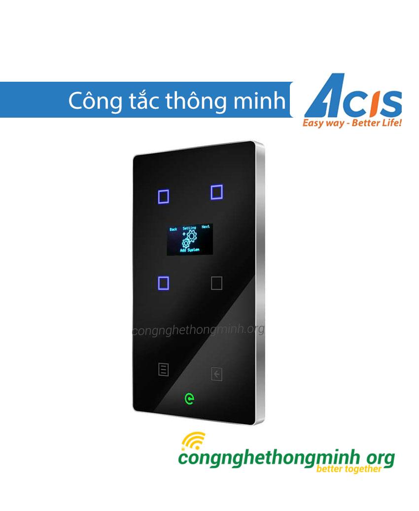 Công tắc thông minh đen có màn hình Acis