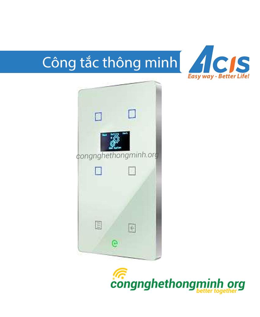 Công tắc thông minh trắng có màn hình Acis